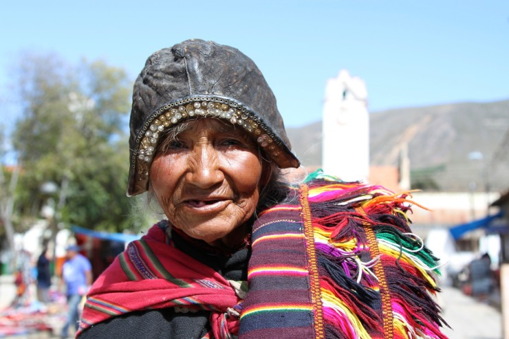 Woman at the weekly market in Tarabuco, Bolivia