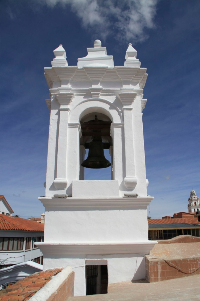 The Bell that sounded Bolivian Independence, Iglesia de San Francisco, Sucre, Boliiva