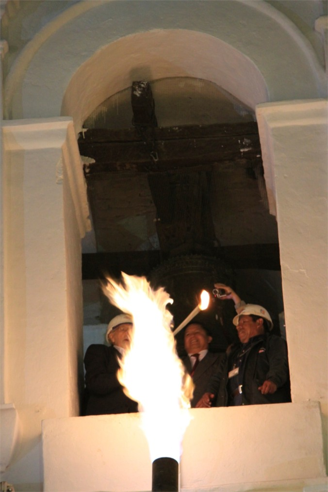 Bolivian Independence celebrations, Iglesia de San Francisco, Sucre, Boliiva