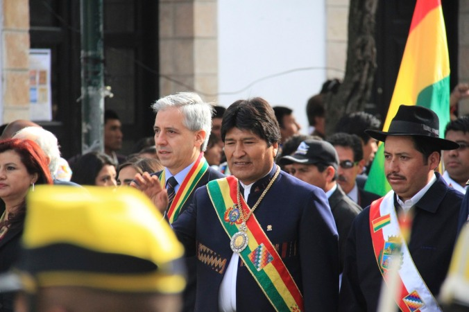 Independence Day with Evo Morales, Sucre, Bolivia