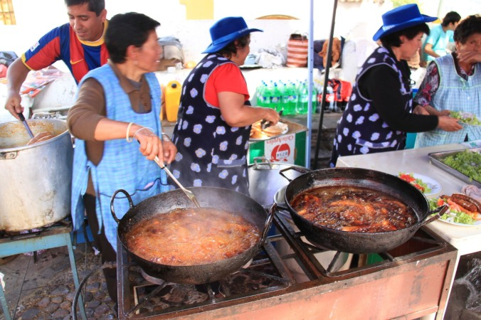 Chorizo on Independence Day, Sucre, Bolivia