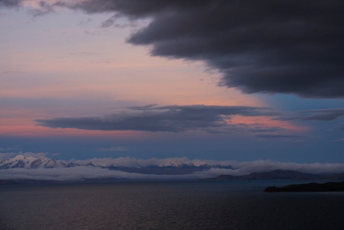 Views of the Cordillera Real and Lake Titicaca from Isla del Sol, one of a thousand reasons for coming to Bolivia