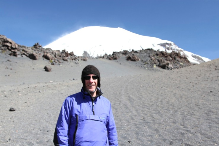 On the slopes before Vulcan Parinacota, Bolivia