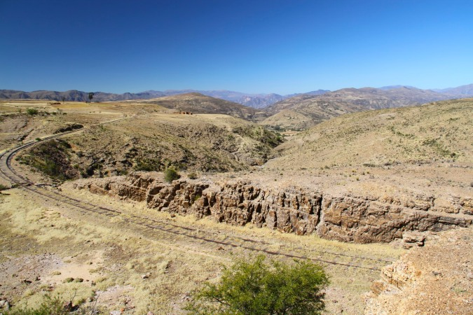 The old railway, it would make a spectacular rail journey, Tarabuco, Bolivia
