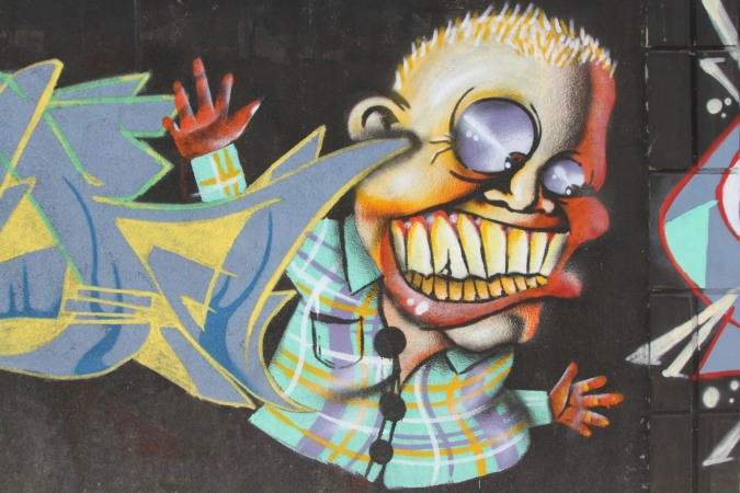 Definitely reminds me of someone...Street Art, La Paz, Bolivia