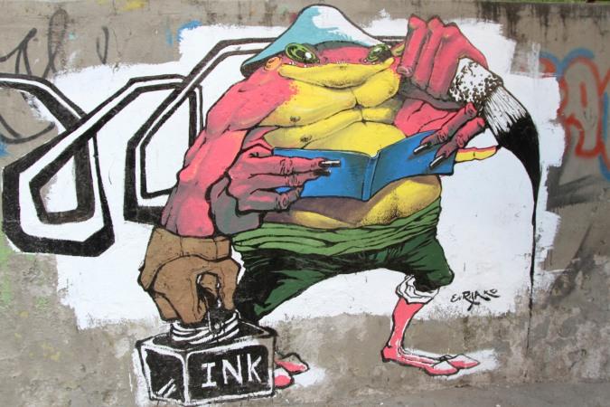 Sopocachi ink merchant. Street Art, La Paz, Bolivia