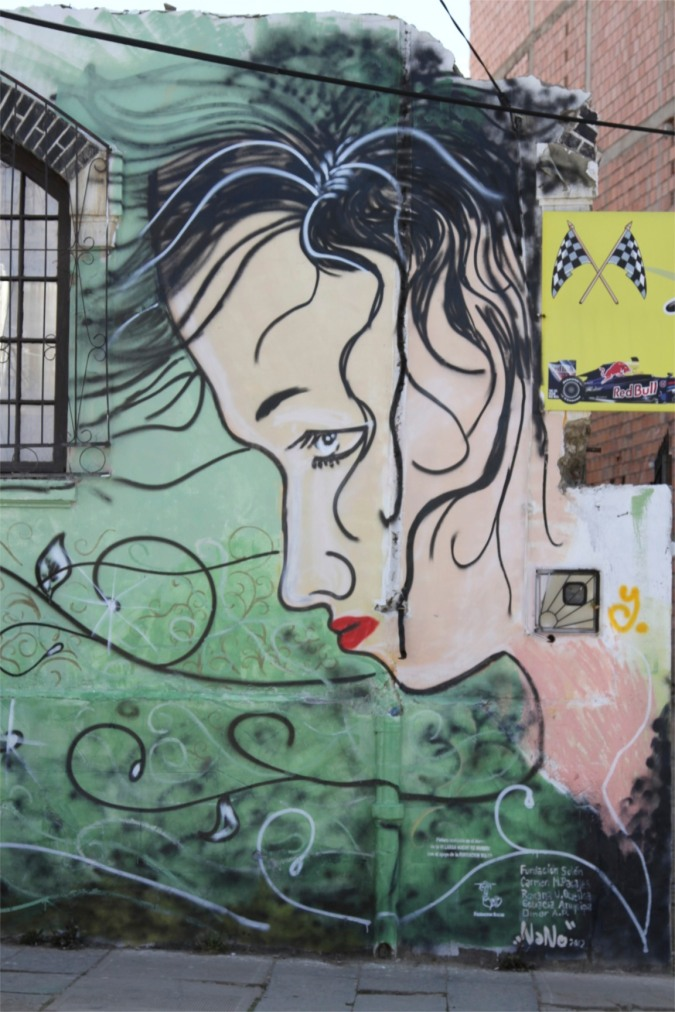 Women remain in the minority on the walls, Street Art, La Paz, Bolivia