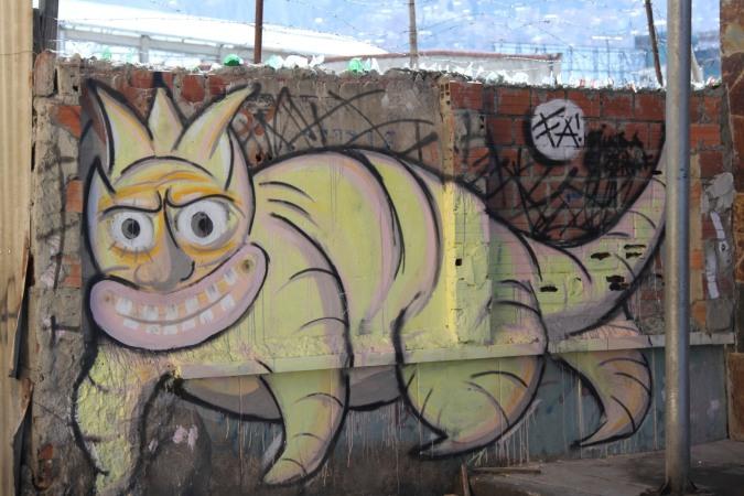 A more rarified taste. Street Art, La Paz, Bolivia