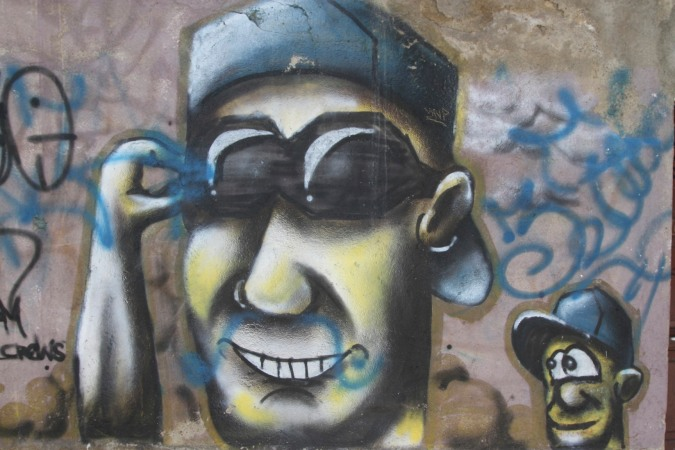 Proof that shrunken head technology exists? Street Art, La Paz, Bolivia