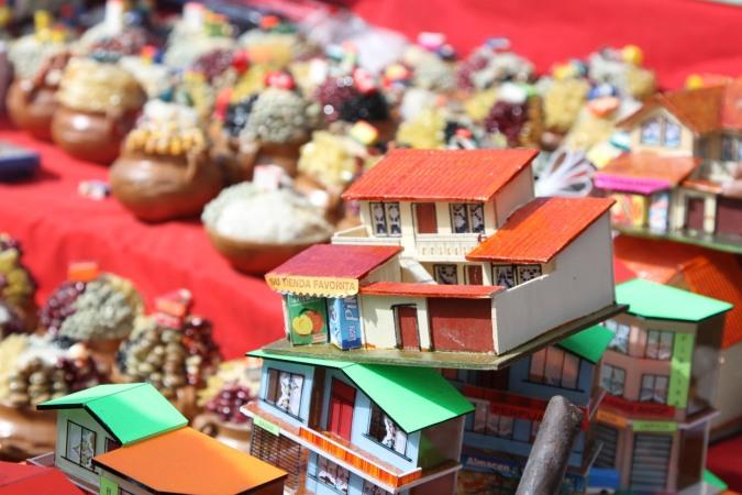 Miniature house with adjoining shop, La Fiesta de las Alasitas, Bolivia