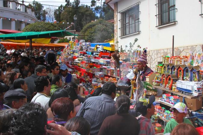 Don't over-cook the miniatures, La Fiesta de las Alasitas, Bolivia