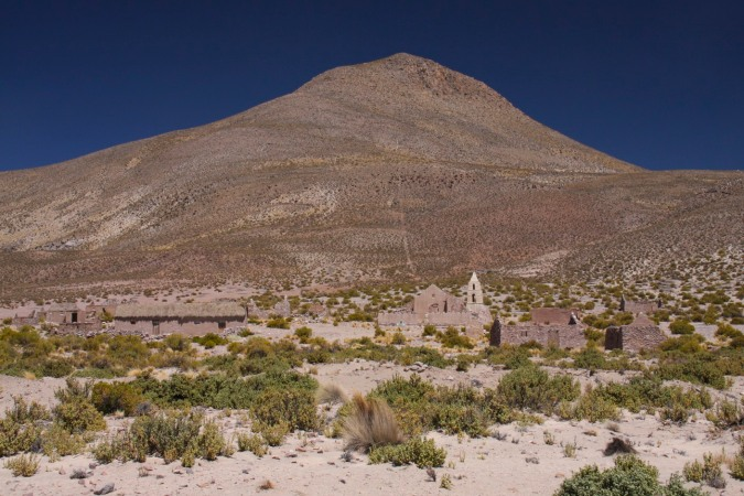 Abandoned village, Altiplano, Bolivia