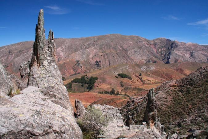 View over the Cordillera de los Frailles, Sucre, Bolivia