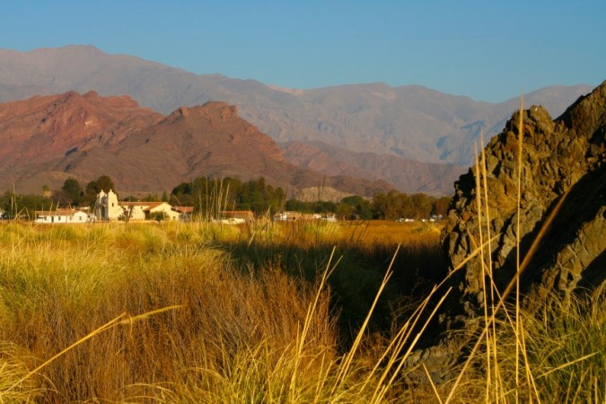 The village of Molinos seen at sunrise, Argentina