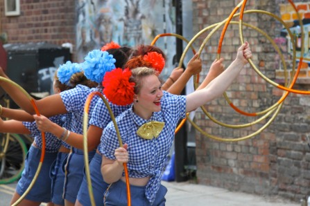 Hula Hooping at the White Cross Street Festival, London, England