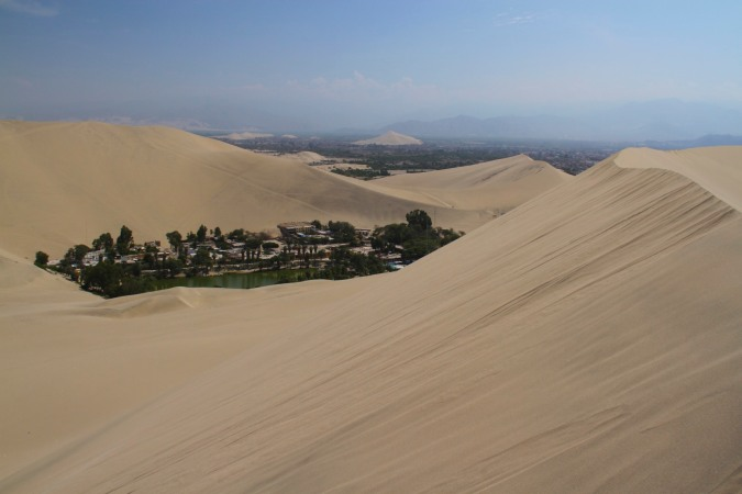 The oasis of Huacachina, Ica, Peru