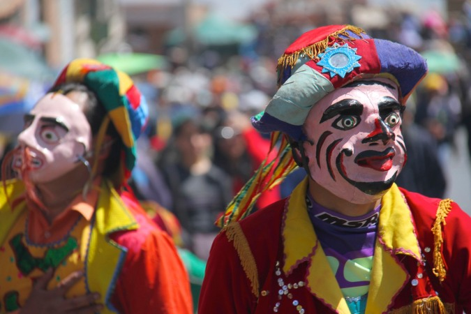 Performer at Potosi's Ch'utillos Festival, or the Festival of San Bartolomé. Bolivia