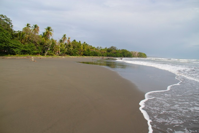Black sand beach at Cahuita, Costa Rica