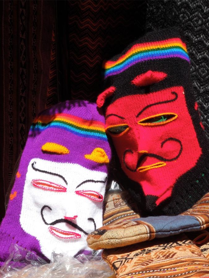 Traditional fiesta masks, Tarabuco, Bolivia