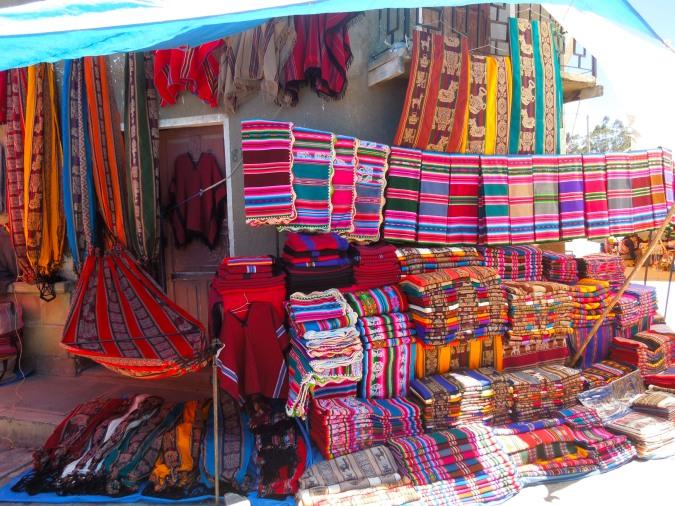 Weavings, Tarabuco, Bolivia