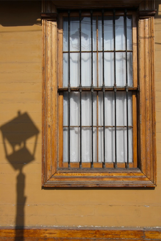Shadow and window in historic Iquique, Chile