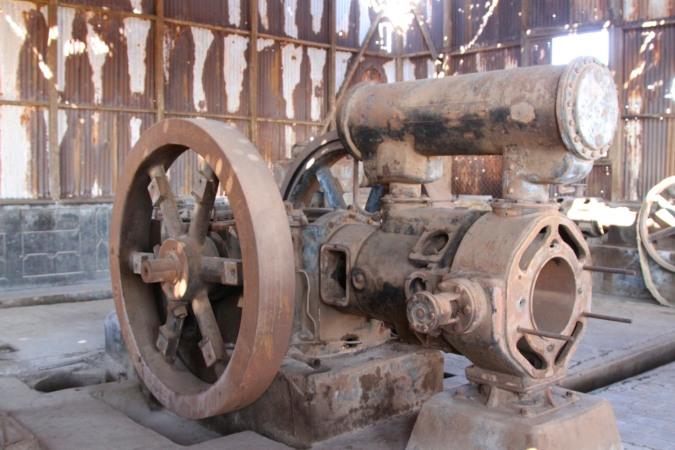 Giant compressor, Santa Laura, Atacama Desert, Chile