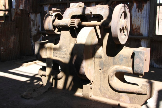 Machinery made in Glasgow, Santa Laura, Atacama Desert, Chile