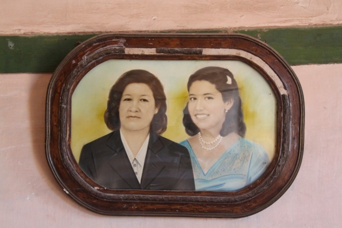 Photo on the wall of a cottage, Humberstone, Atacama Desert, Chile