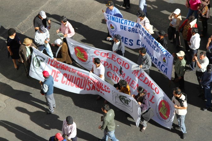 Protest march, Sucre, Bolivia