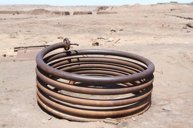 Abandoned spring, Humberstone, Atacama Desert, Chile