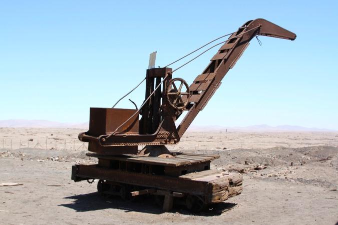 Crane, Humberstone, Atacama Desert, Chile