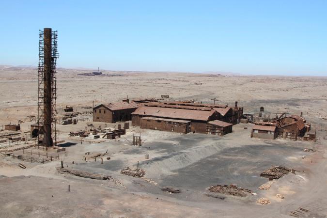 Main nitrate processing area, Humberstone, Atacama Desert, Chile