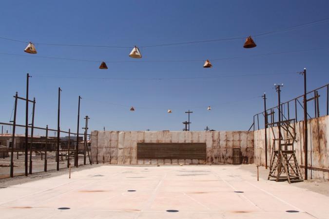 Tennis court, Humberstone, Atacama Desert, Chile