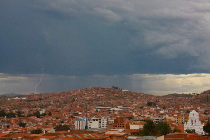 Stormy skies over Sucre, Bolivia