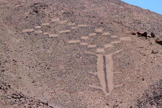 Geoglyphs at the Cerro Pintados, Atacama Desert, Chile