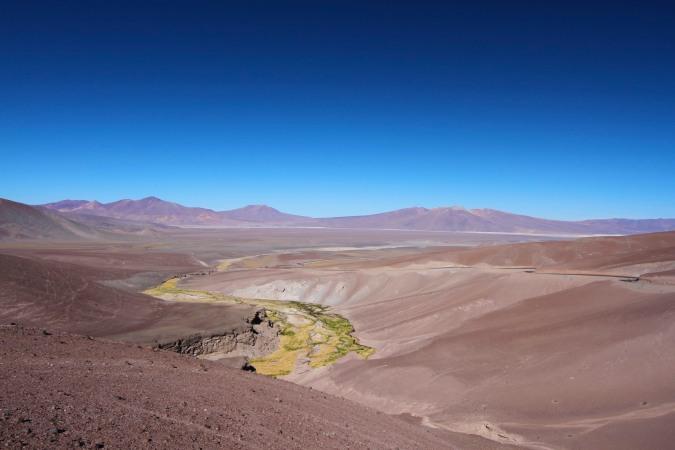 Landscape en route to Laguna Verde, Parque Nacional Nevado de Tres Cruces, Chile