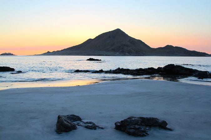 Sunset on Playa Piqueros, Parque Nacional Pan de Azucar, Chile