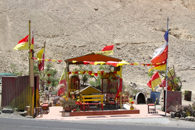 Roadside shrine, Atacama Desert, Chile