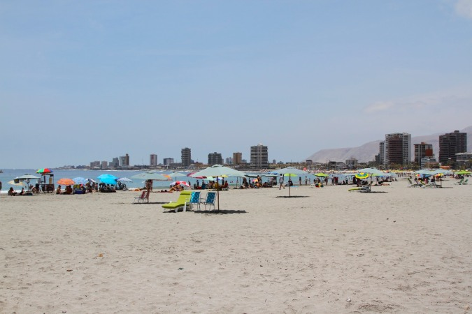 Playa Brava on Sunday, Iquique, Chile