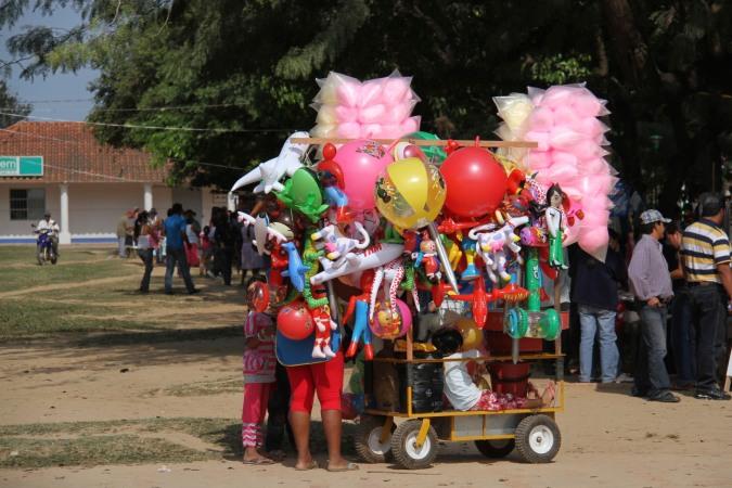 Balloon seller, San Ignacio de Moxos, Bolivia