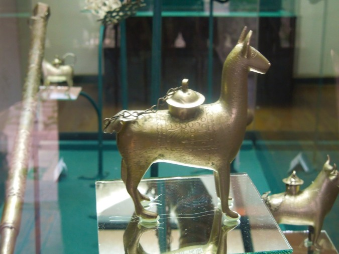 Llama made from Potosi silver, Casa de la Moneda, Bolivia