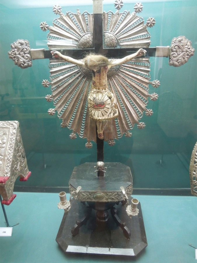 Crucifix made from Potosi silver, Casa de la Moneda, Bolivia