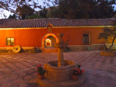 The Hacienda Cayara at night, Cayara, Bolivia