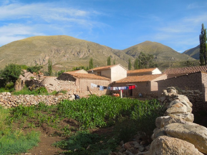 Houses in the village of Cayara, Bolivia