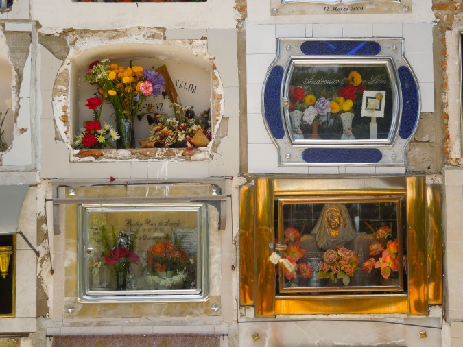 Graves in Sucre's cemetery, Bolivia