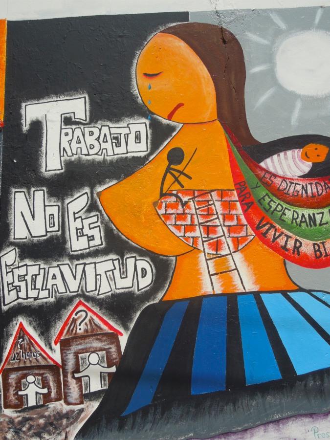 Political street art, Sucre, Bolivia