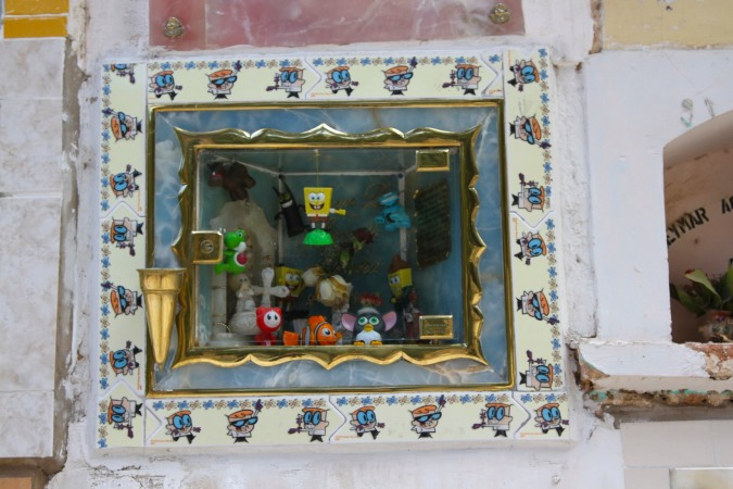 Child's tomb with toys, Cemetario, Sucre, Bolivia