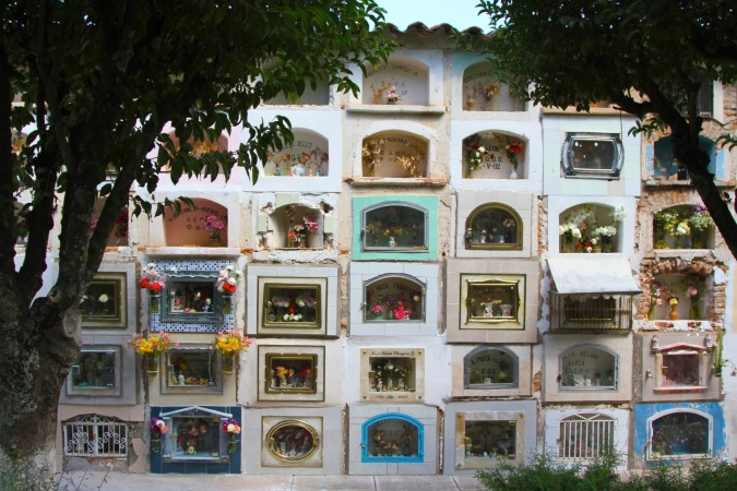 Tombs in Sucre's cemetery, Bolivia