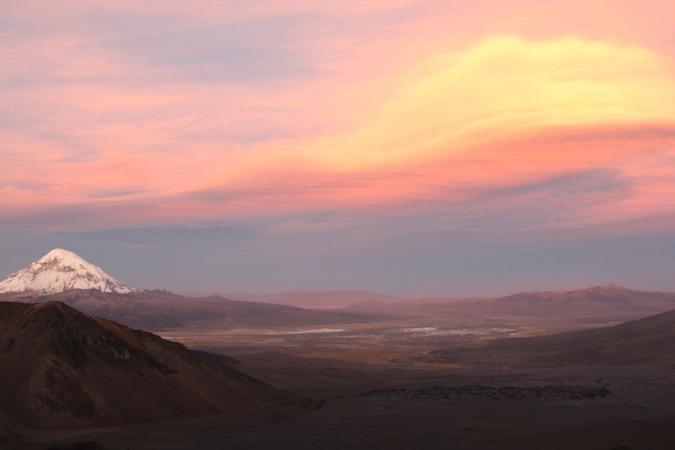 Sunset over Sajama National Park, Bolivia