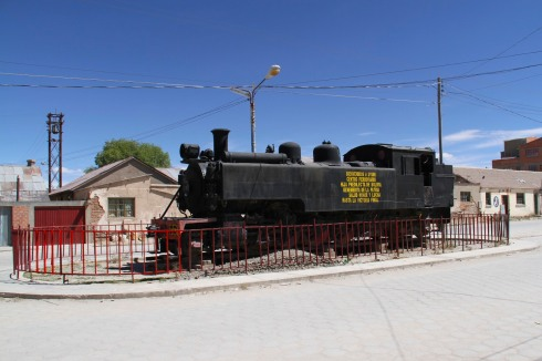 Train made in Yorkshire, Uyuni, Bolivia